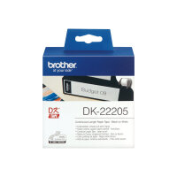 Brother DK-22205 - Black on white - Roll (6.2 cm x 30.5 m) thermal paper - for Brother QL-1050, 1060, 500, 550, 560, 570, 580, 600, 650, 700, 710, 720, 820