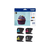Brother LC123 - 4-pack - black, yellow, cyan, magenta - original - blister - ink cartridge - for Brother DCP-J100, J105, J132, J152, J552, J752, MFC-J245, J470, J650, J6520, J6720, J6920