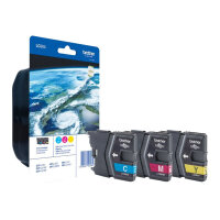 Brother LC985 Rainbow Pack - Yellow, cyan, magenta - original - blister with accoustic / electromagnetic alarm - ink cartridge - for Brother DCP-J125, DCP-J140, DCP-J315, DCP-J515, MFC-J220, MFC-J265, MFC-J410, MFC-J415