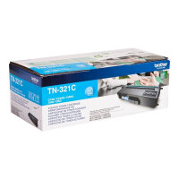 Brother TN321C - Cyan - original - toner cartridge - for Brother DCP-L8400, DCP-L8450, HL-L8250, HL-L8350, MFC-L8650, MFC-L8850