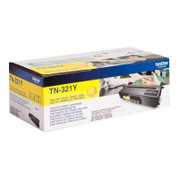 Brother TN321Y - Yellow - original - toner cartridge - for Brother DCP-L8400, DCP-L8450, HL-L8250, HL-L8350, MFC-L8650, MFC-L8850