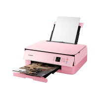 Canon PIXMA TS5352 - Multifunction printer - colour - ink-jet - 216 x 297 mm (original) - A4/Legal (media) - up to 13 ipm (printing) - 200 sheets - USB 2.0, Bluetooth, Wi-Fi(n) - pink