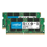 Crucial - DDR4 - 16 GB Kit : 2 x 8 GB - SO-DIMM 260-pin - 2666 MHz / PC4-21300 - CL19 - 1.2 V - unbuffered - non-ECC