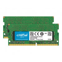 Crucial - DDR4 - 64 GB Kit : 2 x 32 GB - SO-DIMM 260-pin - 2666 MHz / PC4-21300 - CL19 - 1.2 V - unbuffered - non-ECC