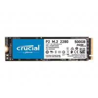 Crucial P2 - Solid state drive - 500 GB - internal - M.2 2280 - PCI Express 3.0 x4 (NVMe)