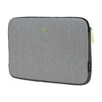 "DICOTA Skin FLOW - Notebook sleeve - 13"" - 14.1"" - grey, green"