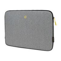 "DICOTA Skin FLOW - Notebook sleeve - 13"" - 14.1"" - grey, yellow"