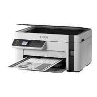 Epson EcoTank ET-M2120 - Multifunction printer - B/W - ink-jet - A4/Legal (media) - up to 32 ppm (printing) - 150 sheets - USB, Wi-Fi - white