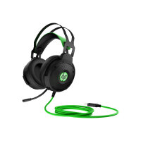 HP Pavilion Gaming 600 - Headset - full size - wired - black/green - for OMEN Obelisk by HP 875; HP 15, 27; ENVY x360; Pavilion Gaming 15, 690, TG01; Spectre x360