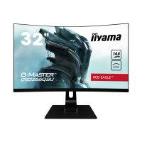 "iiyama G-MASTER Red Eagle GB3266QSU-B1 - LED monitor - curved - 31.5"" (31.5"" viewable) - 2560 x 1440 WQHD @ 144 Hz - VA - 400 cd/m² - 3000:1 - 1 ms - 2xHDMI, 2xDisplayPort - speakers - matte black"