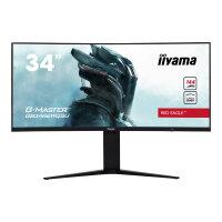 "iiyama G-MASTER Red Eagle - LED monitor - curved - 34"" (34"" viewable) - 3440 x 1440 UWQHD @ 144 Hz - VA - 400 cd/m² - 3000:1 - 1 ms - 2xHDMI, 2xDisplayPort - speakers - matte black"