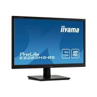 "iiyama ProLite E2283HS-B5 - LED monitor - 22"" (21.5"" viewable) - 1920 x 1080 Full HD (1080p) @ 60 Hz - TN - 250 cd/m² - 1000:1 - 1 ms - HDMI, VGA, DisplayPort - speakers - black"
