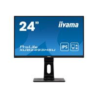 "iiyama ProLite XUB2493HSU-B1 - LED monitor - 24"" (23.8"" viewable) - 1920 x 1080 Full HD (1080p) @ 60 Hz - IPS - 250 cd/m² - 1000:1 - 4 ms - HDMI, VGA, DisplayPort - speakers - matte black"
