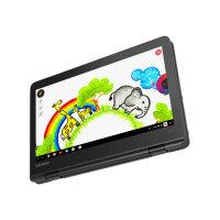 "Lenovo 300e Chromebook (2nd Gen) AST 82CE - Flip design - A4 9120C / 1.6 GHz - Chrome OS - 4 GB RAM - 32 GB eMMC - 11.6"" IPS touchscreen 1366 x 768 (HD) - Radeon R4 - Wi-Fi, Bluetooth - black - kbd: UK"