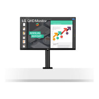 """LG Ergo 27QN880 - LED monitor - 27"""" - 2560 x 1440 QHD @ 75 Hz - IPS - 350 cd/m² - 1000:1 - 5 ms - 2xHDMI, DisplayPort, USB-C - speakers"""