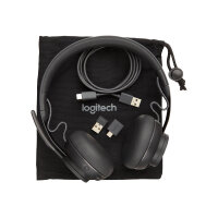 Logitech Zone Wired MSFT Teams - Headset - on-ear - wired - active noise cancelling - USB-C - graphite