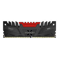 PNY Anarchy X - DDR4 - 16 GB Kit : 2 x 8 GB - DIMM 288-pin - 3200 MHz / PC4-25600 - CL16 - 1.2 V - unbuffered - non-ECC - red