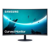 """Samsung C32T550FDU - T55 Series - LED monitor - curved - 32"""" (31.5"""" viewable) - 1920 x 1080 Full HD (1080p) @ 75 Hz - VA - 250 cd/m² - 3000:1 - 4 ms - HDMI, VGA, DisplayPort - speakers - dark grey/blue"""