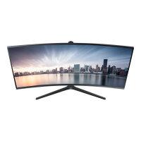 "Samsung C34H890WGU - CH89 Series - LED monitor - curved - 34"" (34"" viewable) - 3440 x 1440 Ultra WQHD @ 100 Hz - VA - 300 cd/m² - 3000:1 - 4 ms - HDMI, DisplayPort, USB-C - silver"