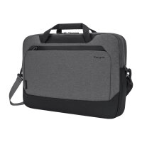 """Targus Cypress Briefcase with EcoSmart - Notebook carrying case - 15.6"""" - grey"""