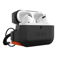UAG Rugged Case for AirPods Pro - Silicone Case Black/Orange - Case for earphones - rugged - silicone - black, orange - for Apple AirPods Pro