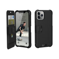 """UAG Rugged Case for iPhone 11 Pro [5.8-inch screen] - Metropolis Black - Flip cover for mobile phone - polyurethane, thermoplastic polyurethane (TPU) - black - 5.8"""" - for Apple iPhone 11 Pro"""