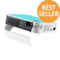 ViewSonic M1 Mini Plus - DLP projector - RGB LED - 3D - 120 lumens - WVGA (854 x 480) - 16:9 - Wi-Fi / Bluetooth