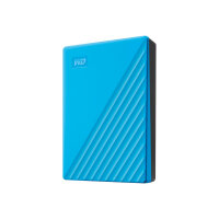 WD My Passport WDBPKJ0040BBL - Hard drive - encrypted - 4 TB - external (portable) - USB 3.2 Gen 1 - 256-bit AES - blue