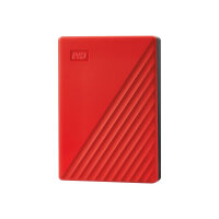 WD My Passport WDBPKJ0040BRD - Hard drive - encrypted - 4 TB - external (portable) - USB 3.2 Gen 1 - 256-bit AES - red
