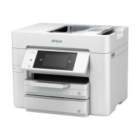 Epson WorkForce Pro WF-4745DTWF - Multifunction printer - colour - ink-jet - 216 x 297 mm (original) - A4/Legal (media) - up to 34 ppm (printing) - 500 sheets - 33.6 Kbps - USB 2.0, LAN, Wi-Fi(n), USB host, NFC