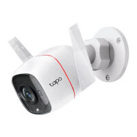 Tapo C310 - Network surveillance camera - outdoor - dustproof / weatherproof - colour (Day&Night) - 3 MP - 2304 x 1296 - 2304p - fixed focal - audio - wireless - Wi-Fi - GbE - H.264 - DC 9 V