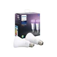 Philips Hue White and Color Ambiance Dual Pack - LED light bulb - shape: A60 - E27 - 9 W (equivalent 60 W) - class A+ - 16 million colours (pack of 2)
