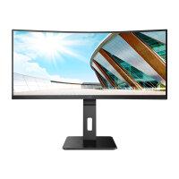 """AOC CU34P2A - LED monitor - curved - 34"""" - 3440 x 1440 Ultra WQHD @ 100 Hz - VA - 300 cd/m² - 3000:1 - 1 ms - 2xHDMI, DisplayPort - speakers - black"""