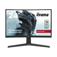 "iiyama G-MASTER Red Eagle GB2466HSU-B1 - LED monitor - curved - 24"" (23.6"" viewable) - 1920 x 1080 Full HD (1080p) @ 165 Hz - VA - 250 cd/m² - 3000:1 - 1 ms - 2xHDMI, DisplayPort - speakers - matte black"