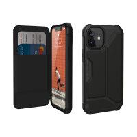 UAG Rugged Case for iPhone 12 Mini 5G [5.4-inch] - Metropolis Black PU - Flip cover for mobile phone - rugged - polyurethane - satin armor black - for Apple iPhone 12 mini