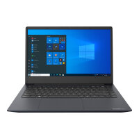 "Dynabook Satellite Pro C40-H-105 - Core i7 1065G7 / 1.3 GHz - Win 10 Pro 64-bit - 8 GB RAM - 256 GB SSD - 14"" 1920 x 1080 (Full HD) - Iris Plus Graphics - Wi-Fi, Bluetooth - dark blue, black (keyboard)"