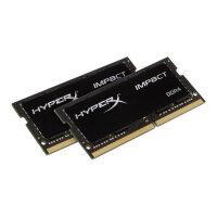 HyperX Impact - DDR4 - kit - 32 GB: 2 x 16 GB - SO-DIMM 260-pin - 2666 MHz / PC4-21300 - CL16 - 1.2 V - unbuffered - non-ECC