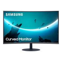 """Samsung C24T550FDU - T55 Series - LED monitor - curved - 24"""" (23.6"""" viewable) - 1920 x 1080 Full HD (1080p) @ 75 Hz - VA - 250 cd/m² - 3000:1 - 4 ms - HDMI, VGA, DisplayPort - dark grey/blue"""