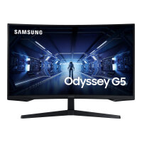 "Samsung Odyssey G5 C32G55TQWR - G55T Series - LED monitor - curved - 32"" - 2560 x 1440 WQHD @ 144 Hz - VA - 250 cd/m² - 2500:1 - 1 ms - HDMI, DisplayPort - black"