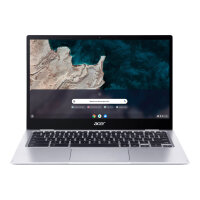 "Acer Chromebook Spin 513 R841T - Flip design - Snapdragon 7c Kryo 468 - Chrome OS - 4 GB RAM - 64 GB eMMC - 13.3"" IPS touchscreen 1920 x 1080 (Full HD) - Qualcomm Adreno 618 - Wi-Fi 5, Bluetooth - steel grey - kbd: UK"