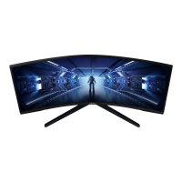 "Samsung Odyssey G5 C34G55TWWR - G55T Series - LCD monitor - curved - 34"" (34"" viewable) - 3440 x 1440 Ultra WQHD @ 165 Hz - VA - 250 cd/m² - 2500:1 - 1 ms - HDMI, DisplayPort - black"