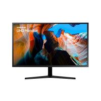 """Samsung U32J590UQR - UJ59 Series - LED monitor - 32"""" (31.5"""" viewable) - 3840 x 2160 4K @ 60 Hz - VA - 270 cd/m² - 3000:1 - 4 ms - 2xHDMI, DisplayPort - dark grey/blue"""