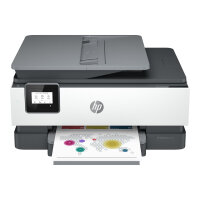 HP Officejet 8015e All-in-One - Multifunction printer - colour - ink-jet - A4 (210 x 297 mm), Legal (216 x 356 mm) (original) - A4/Legal (media) - up to 13 ppm (copying) - up to 18 ppm (printing) - 225 sheets - USB, Wi-Fi(n)