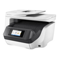 HP Officejet Pro 8730 All-in-One - Multifunction printer - colour - ink-jet - Legal (216 x 356 mm) (original) - A4/Legal (media) - up to 22 ppm (copying) - up to 24 ppm (printing) - 250 sheets - USB 2.0, LAN, Wi-Fi(n), USB host, NFC - HP Instant Ink eligi