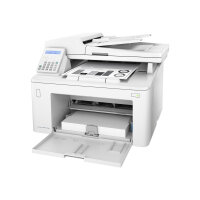 HP LaserJet Pro MFP M227fdn - Multifunction Printer - Black & White (Monochromatic) - Wired USB 2.0 - Laser - A4 / Legal Media Size - Speed Up to 28 ppm (Copying, Printing, Scanning) - Media Tray for 260 sheets - USB 2.0, LAN, USB 2.0 host