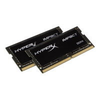 HyperX Impact - DDR4 - kit - 64 GB: 2 x 32 GB - SO-DIMM 260-pin - 2666 MHz / PC4-21300 - CL16 - 1.2 V - unbuffered - non-ECC