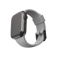 [U] Apple Watch Band 44mm 42mm, Series 6/5/4/3/2/1/SE - Silicone Grey - Strap for smart watch - grey - for Apple Watch (42 mm, 44 mm)
