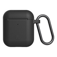 [U] DOT for Apple AirPods - Hard case for wireless earphones - silicone - black - for Apple AirPods (1st Generation, 2nd Generation)