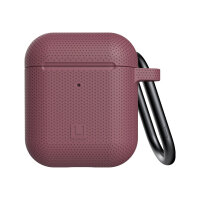 [U] DOT for Apple AirPods - Hard case for wireless earphones - silicone - dusty rose - for Apple AirPods (1st Generation, 2nd Generation)