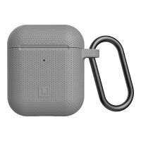 [U] DOT for Apple AirPods - Hard case for wireless earphones - silicone - grey - for Apple AirPods (1st Generation, 2nd Generation)